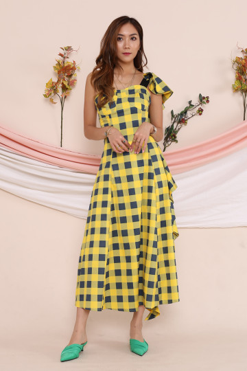 KOLEEN 60'S CHECKERED DRESS (PREMIUM)(BACKORDER) image
