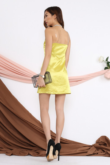 JUDI DIAMANTE DRESS (YELLOW) image