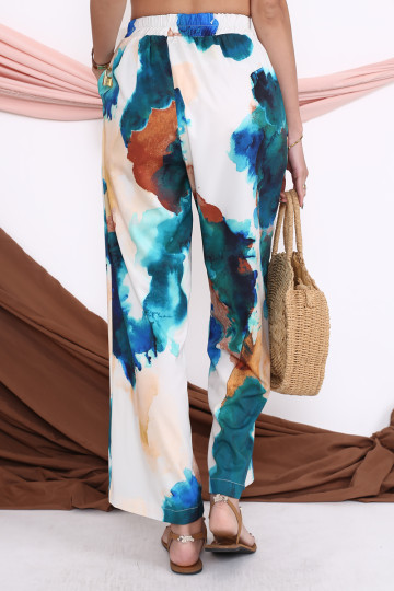 WATERCOLOUR PRINTED PANTS (BACKORDER) image