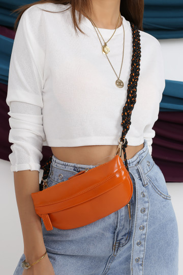 2-WAY ROPE STRAP BAG (BURNT ORANGE)(BACKORDER) image