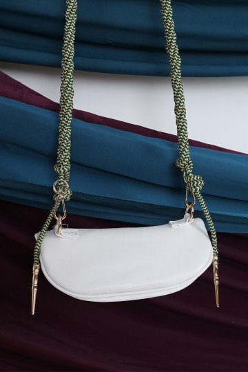 2-WAY ROPE STRAP BAG (WHITE)(BACKORDER) image