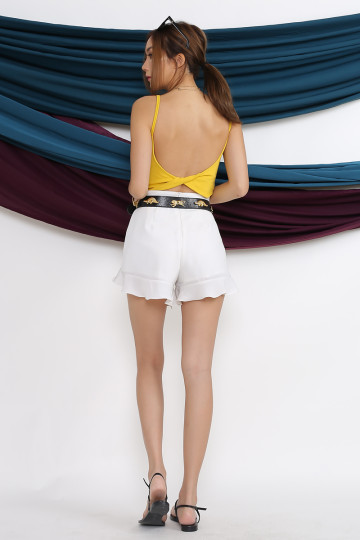 TWIST IT BASIC CROP TOP (MUSTARD) image