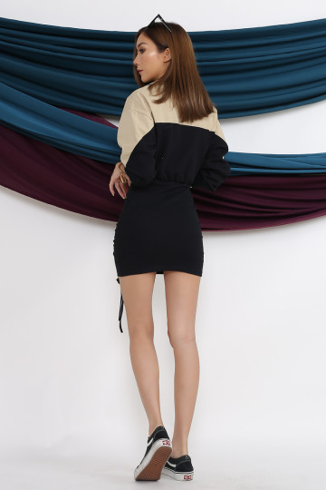 SPORTY CHIC DRESS (BLACK) image