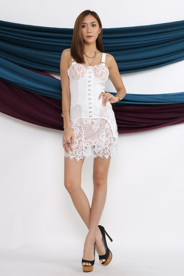 SAMANTHA LACE DRESS (PREMIUM) image