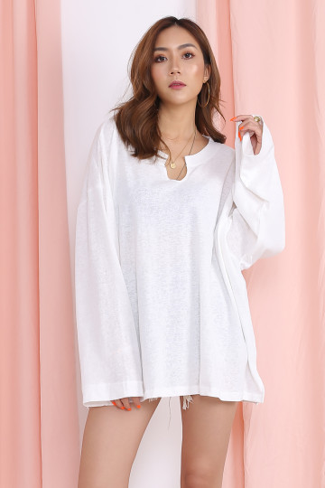 MARX BASIC LONG SLEEVES (WHITE)(BACKORDER) image