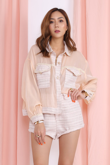 NOREEN 2-PIECE TWEED SET (PINK)(PREMIUM) image