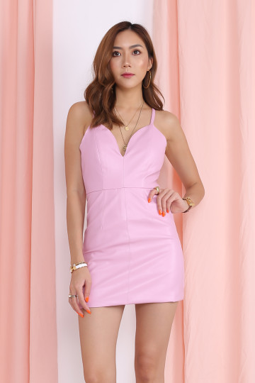 KELLIE BODYCON DRESS (PINK)(PREMIUM)(BACKORDER) image