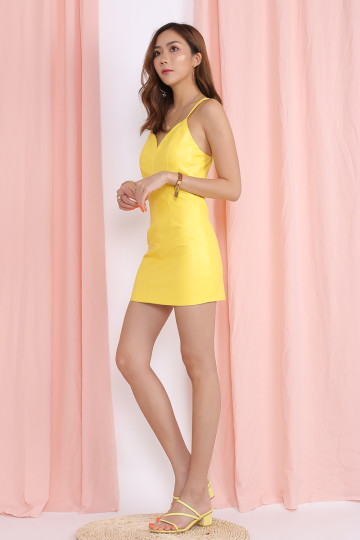 KELLIE BODYCON DRESS (YELLOW)(PREMIUM) image