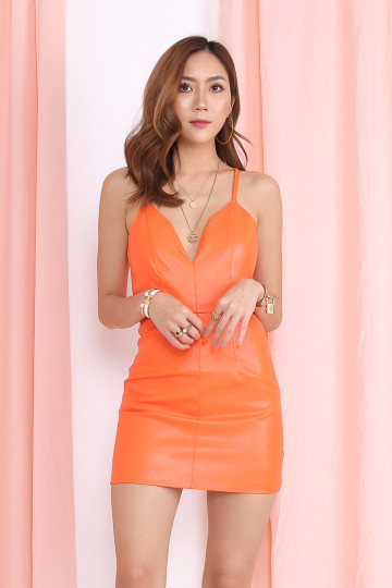 KELLIE BODYCON DRESS (ORANGE)(PREMIUM) image