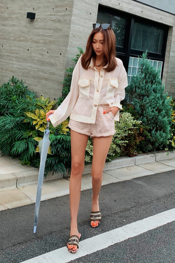 NOREEN 2-PIECE TWEED SET (PINK)(PREMIUM)(BACKORDER) image