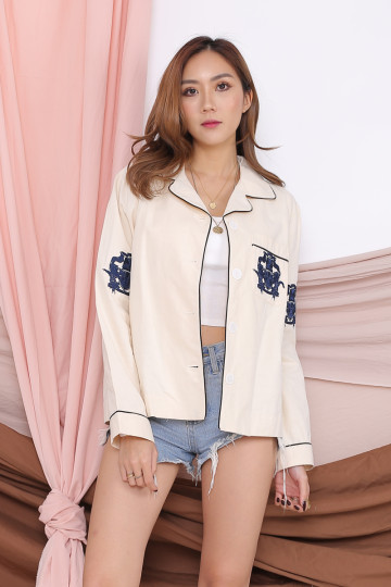 PREPPY LINED EMBROIDERY JACKET (PREMIUM) image