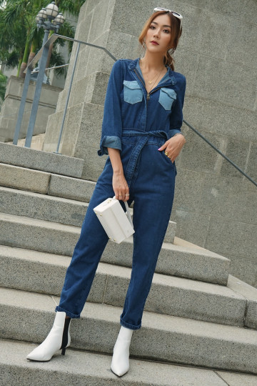 DENIM ON DENIM JUMPSUIT (PREMIUM) image