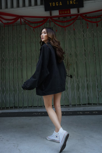 OVERSIZED TIMELESS OUTER WEAR (DARK GREY)(PREMIUM) image