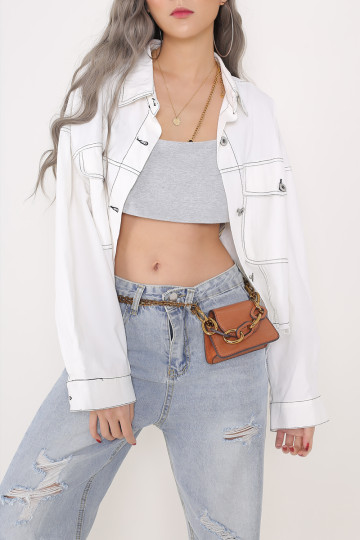 BLITHE THREADED JACKET (WHITE) image