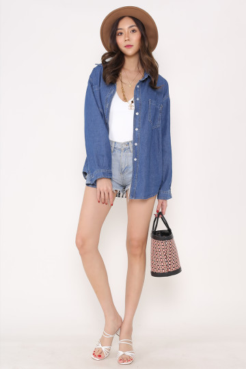 BOYFRIEND DENIM SHIRT image
