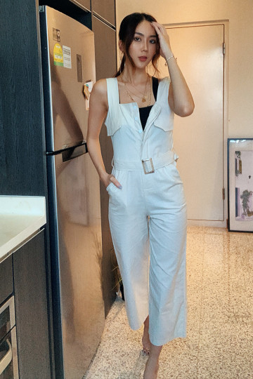 ON A VOYAGE BELTED JUMPSUIT image