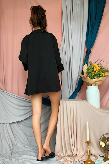 KYLEY OVERSIZED BLAZER (BLACK) image
