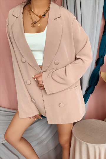KILEY OVERSIZED BLAZER (WARM BLUSH)(PREMIUM) image