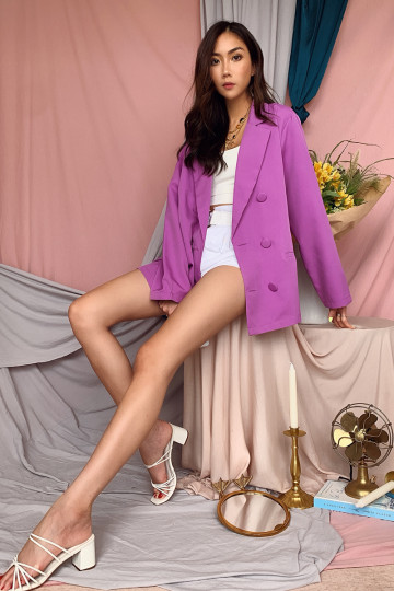 KYLEY OVERSIZED BLAZER (PURPLE)(PREMIUM) image