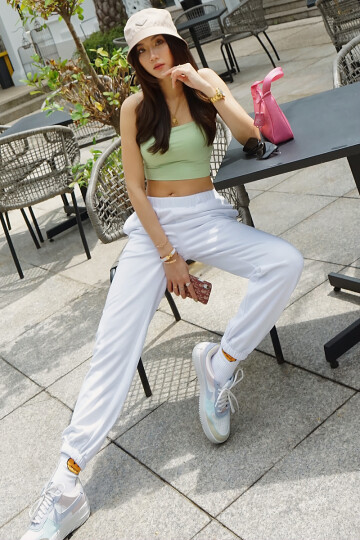 DOWNTIME SWEATPANTS (WHITE) image